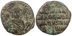 Ancient Coins - Romanus I, Lecapenus 920-944 A.D. Follis Constantinople Mint Good Fine