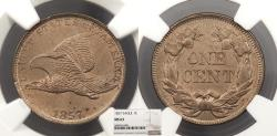 Us Coins - 1857 Flying Eagle 1 Cent NGC MS-63