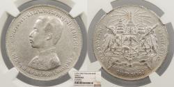 World Coins - THAILAND Rama V (Chulalongkorn) ND (1876-1900) Baht NGC AU