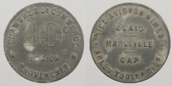 World Coins - FRANCE: ND (1918) WWI notgeld. Provisional Regions. 10 Centimes token