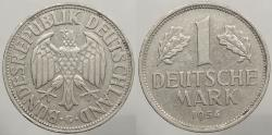 World Coins - GERMANY: Federal Republic 1954-G Mintage 3,459,000. Mark