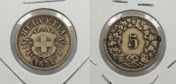 World Coins - SWITZERLAND: 1872 5 Rappen