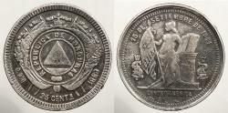 World Coins - HONDURAS: 1888 Multiple overdates 25 Centavos