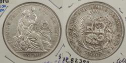 World Coins - PERU: 1890-LIMA TF Sol