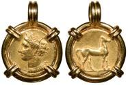 Zeugitania Carthage c. 310-270 B.C. Stater VF