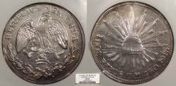 World Coins - MEXICO Guerrero Campo Morado 1915-GRO CM 2 Pesos NGC EF-45