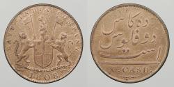 World Coins - INDIA: 1808 ex. Admiral Gardner shipwreck. 10 Cash