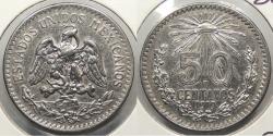 World Coins - MEXICO: 1919-M 50 Centavos