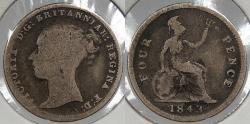 World Coins - GREAT BRITAIN: 1843 Victoria 4 Pence