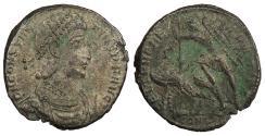 Ancient Coins - Constantius II 337-361 A.D. Maiorina Constantinople Mint Near VF