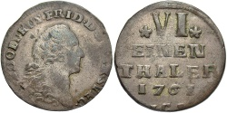 World Coins - GERMAN STATES: Pomerania 1761-ICS 1/6 Thaler