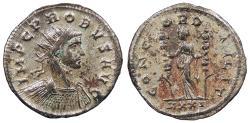 Ancient Coins - Probus 276-282 A.D. Antoninianus Ticinum Mint Near EF