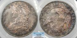 Us Coins - 1836  Capped Bust 50 Cents (Half Dollar) Lettered Edge; O-110 PCGS MS-62