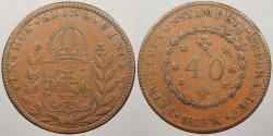World Coins - BRAZIL: 1827-R 40 Reis