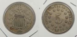 Us Coins - 1869 Shield 5 Cent (Nickel)