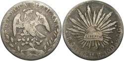 World Coins - MEXICO: 1888 MO MH 8 Reales