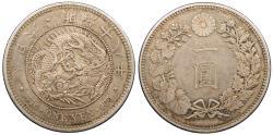 World Coins - JAPAN Mutsuhito M 18 (1885) Yen AU