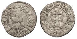 World Coins - SPAIN Aragon Pedro IV 1335-1387 Dinero (Diner) EF