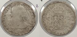 World Coins - PERU: 1787-LIMAE MI Charles III 2 Reales