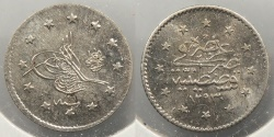 World Coins - TURKEY: AH1293 Y16 (1891-1892) Kurush