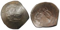 Ancient Coins - Alexius III, Angelus-Comnenus 1195-1203 A.D. Aspron Trachy Constantinople Mint VF