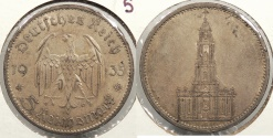 World Coins - GERMANY: 1935-A 5 Reichsmark