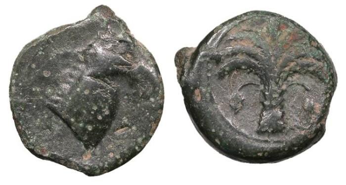 Ancient Coins - Zeugitana Carthage 350-320 B.C. Unit VF