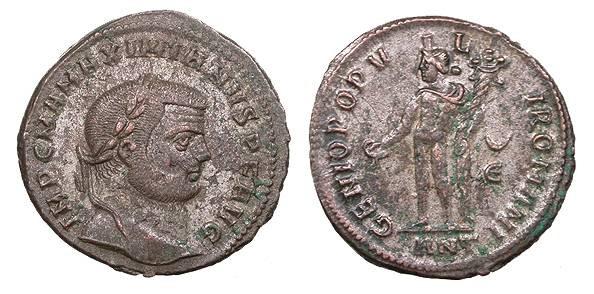 Ancient Coins - Maximianus 286-305 A.D. Follis Antioch Mint EF