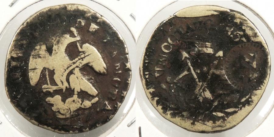World Coins - MEXICO: Zamora 1857-Za Local municipal issue Octavo (1/8 Real) #WC63425