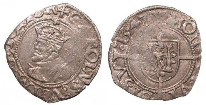 World Coins - FRANCE Besançon Charles V, as Holy Roman Emperor 1530-1556 1/2 Blanc Good VF