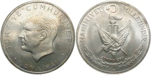 World Coins - TURKEY: 1960 10 Lira