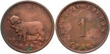 World Coins - URUGUAY: Larraundarra 19th century(?) 1 Cuaro Token (Finca)