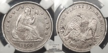 Us Coins - 1840 O Seated Liberty 25 Cents (Quarter) No Drapery NGC AU-50