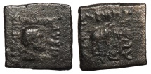 Ancient Coins - Kings of Baktria Lysias 120-110 B.C. AE25 Fine