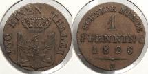 World Coins - GERMAN STATES: Prussia 1828-A Pfennig