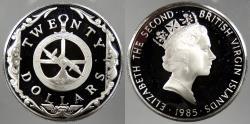 World Coins - BRITISH VIRGIN ISLANDS: 1985 Astrolabe. 20 Dollars Proof