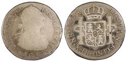World Coins - COLOMBIA Ferdinand VII 1818-NR FJ Real About Fine