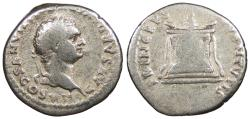 Ancient Coins - Domitian, as Caesar 69-81 A.D. Denarius Rome Mint Good Fine