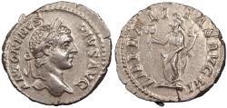 Ancient Coins - Caracalla 198-217 A.D. Denarius Rome Mint EF