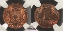 World Coins - LATVIA: 1939 1 Santims NGC UNC