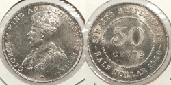 World Coins - STRAITS SETTLEMENTS: 1920 50 Cents
