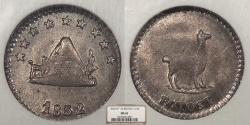 World Coins - BOLIVIA 1852-POTOSI 1/4 Sol NGC MS-63