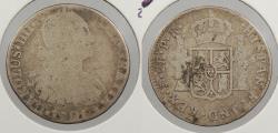 World Coins - BOLIVIA: 1791-PTS PR Charles IV 2 Reales