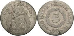World Coins - GERMAN STATES: Saxe-Meiningen 1808 3 Kreuzer