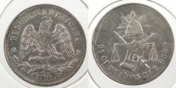 World Coins - MEXICO: 1885-Zs S 25 Centavos