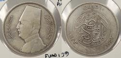 World Coins - EGYPT: AH 1352 / 1933 Fuad I 10 Piastres