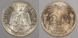 World Coins - MEXICO: 1934 20 Centavos