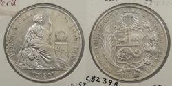 World Coins - PERU: 1869-LIMA YB Sol