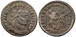 Ancient Coins - Diocletian 284-305 A.D. Radiate Fraction Heraclea Mint Good VF