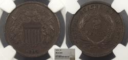 Us Coins - 1865 2 Cents NGC MS-62 BN